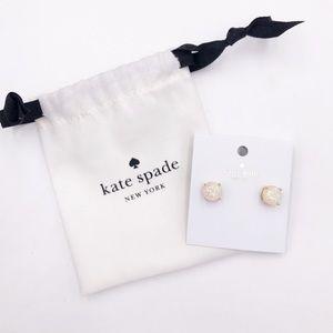 Kate Spade Opal Glitter Gumdrop Earrings